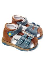 Sunway® Sandale piele Maro-Albastru