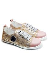 PJ® Pantofi sport piele Roz Auriu 21031